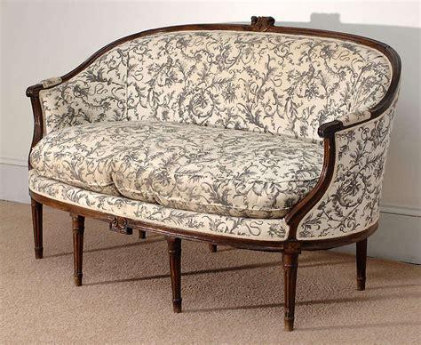 louis xvi style canape corbeille sofa at 1stdibs