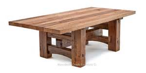 Timber Frame Dining Table, Salvaged Barn Wood, Rustic Old
