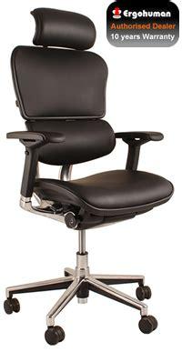 ergohuman la chaise de bureau ergonomique chaise de bureau en en r 233 sille ou maille