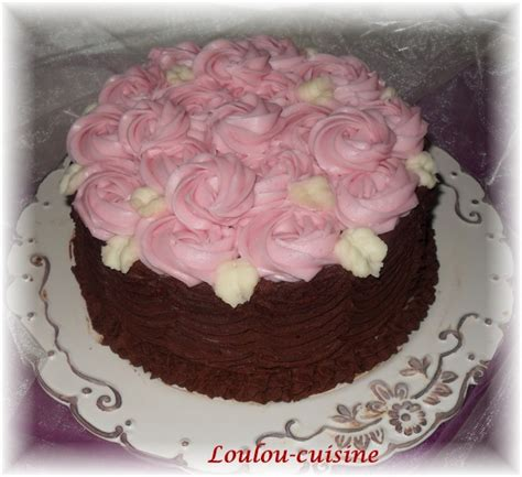 g 226 teau au chocolat d 233 cor de roses la cuisine de loulou