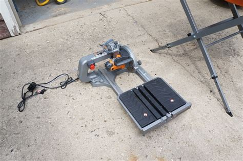 ridgid 8 quot tile saw review model r4040s tools in power tools and gear
