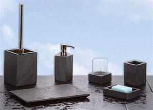 Bad Accessoires Set Grau : badezimmer accessoires petra aus naturschiefer in 6 varianten ebay ~ Markanthonyermac.com Haus und Dekorationen