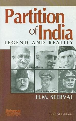 Lumio Book L India by Partition Of India Legend And Reality By H M Seervai