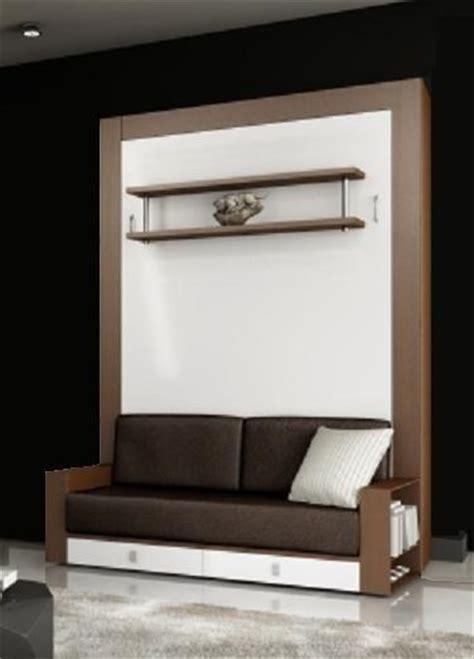 armoire lit avec canape squadra couchage 140cm tiroirs