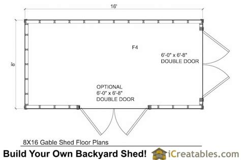 8x16 shed plans shed plans storage shed plans