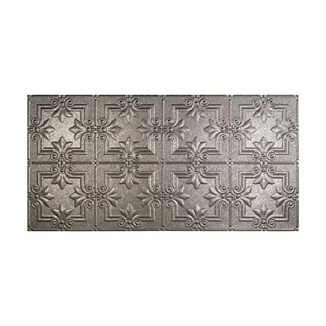 fasade regalia 2 ft x 4 ft glue up ceiling tile in galvanized steel g77 30 the home depot
