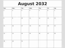 April 2032 Printable Calanders