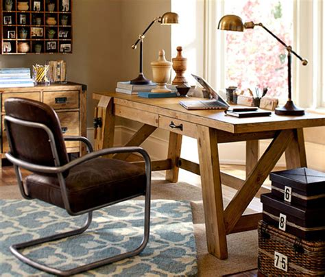 bench style office desks from pottery barn small and large