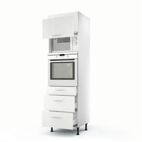 meuble de cuisine colonne blanc 2 portes 3 tiroirs h 200 x l 60 x p 56 cm leroy merlin