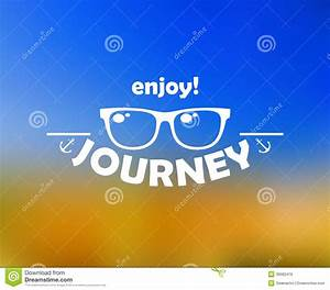 Enjoy Journey Header With Sun Stock Vector - Image: 39082419