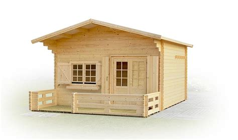 chalet de jardin en bois avec terrasse et mezzanine laurier