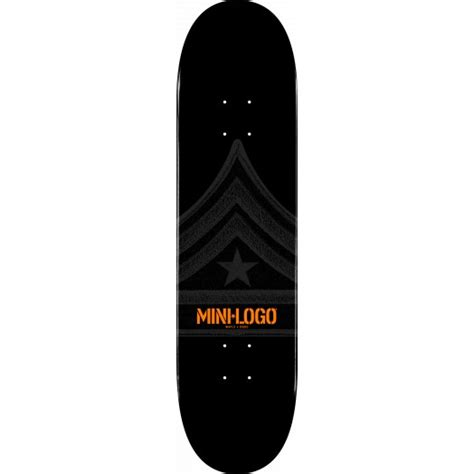 mini logo quartermaster skateboard deck 112 black 7 75 x