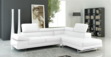 photos canap 233 d angle cuir blanc italien