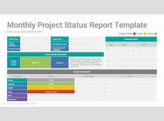 Project Status Report PowerPoint Template Design SlideSalad