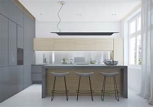 Küche Beton Holz : raumgestaltung ideen in grau 5 moderne appartements ~ Markanthonyermac.com Haus und Dekorationen