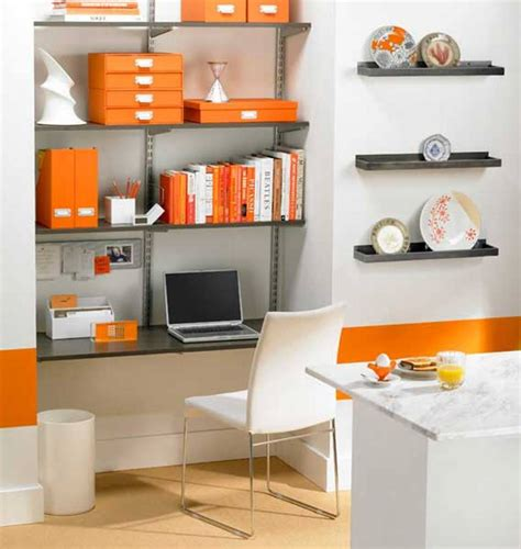 decorations home office modern home office furniture small modern home office ideas with orange folders white