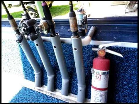 Homemade Fishing Rod Storage For Boats by Diy Fishing Rod Holder For Boat Youtube