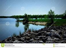 Busse Lake At Ned Brown Preserve In IL Stock Photo
