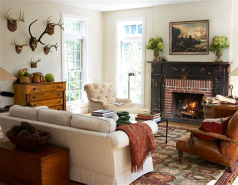 country living room ideas with fireplace adirondack style rustic decorating
