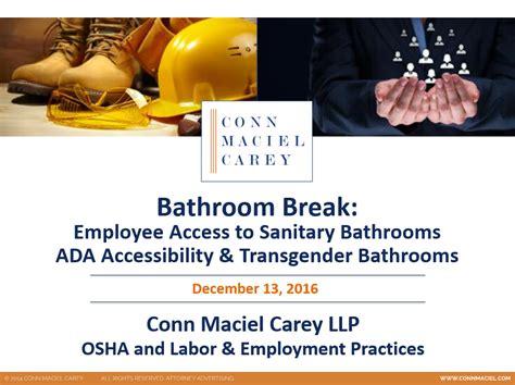 webinar bathroom osha bathroom issues ada accessibility and transgender bathrooms