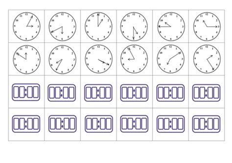 Analogue And Digital Time Card Matching Game By Missn  Teaching Resources Tes