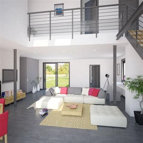 mod 232 le et plan de maison volume etage avec ou sans garage par le constructeur maisons phenix