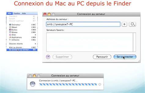 connectivit 233 mac pc mac os x l 233 opard ou snow leopard windows 7 i connexion mac vers pc