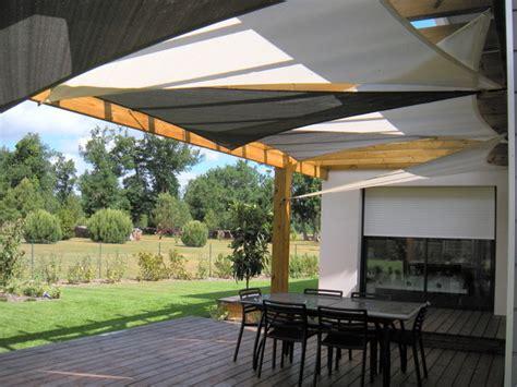 installation de voiles d ombrage sous un pergola contemporary patio other by tension