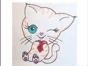 Kinder Bilder Malen : eine niedliche katze malen zeichnen lernen f r anf nger und kinder kawaii bilder tutorial ~ Markanthonyermac.com Haus und Dekorationen