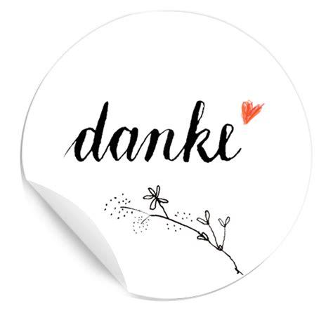 Vielseitige matte Dankeschön Sticker in Schwarz Weiß