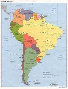 Map Of South America With Capitals - roundtripticket.me
