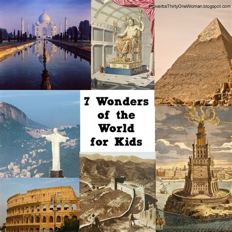 7 wonders of the world a homeschool or school project proverbs 31