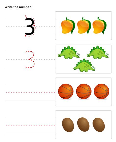 Numbers Worksheets For Preschool And Kindergarten