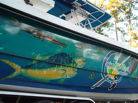 Custom Fishing Boat Graphics custom graphics vinyl wraps boat wraps florida