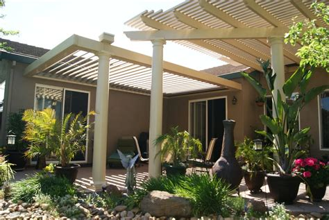 louvered patio cover with solar panel yelp