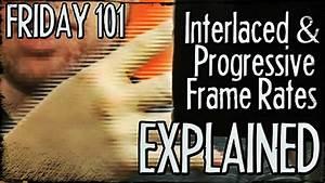 Interlaced and Progressive Frame Rates Explained! : FRIDAY ...