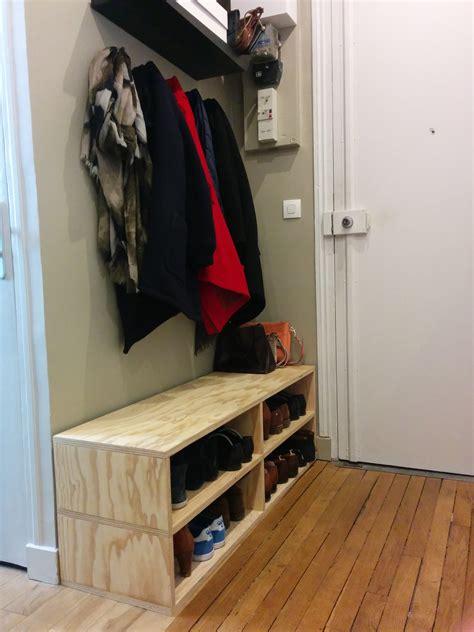 fabriquer un banc en bois avec des collection avec fabriquer un meuble a chaussure avec des
