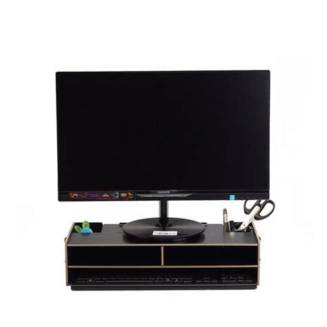home office desk pc computer monitor lcd tv stand riser keyboard shelf plinth alex nld