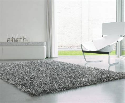tapis shaggy gris argent 233 photo 1 10 sublime tapis shaggy en gris argent 233