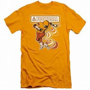 Atari Slim Fit Shirt Football Player Gold T-Shirt - Atari ...