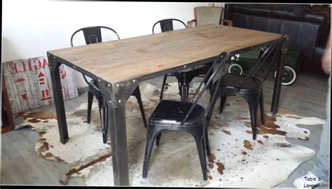 table basse industrielle pas cher table de salle a manger style industriel id 233 es de table 2017