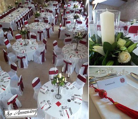habillage des chaises blancs ceinturage d 233 co table mariage mariage