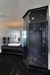 Farbe Für Arbeitsplatte : schwarz ist das neue schwarz bad farben und schwarz f r ein elegantes space ~ Markanthonyermac.com Haus und Dekorationen