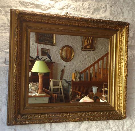 beau miroir ancien encadrement bois et stuc dor 233