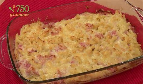 recette gratin de p 226 tes au jambon en vid 233 o