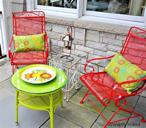 Paint For Wrought Iron Garden Furniture serendipity refined wicker and wrought iron patio