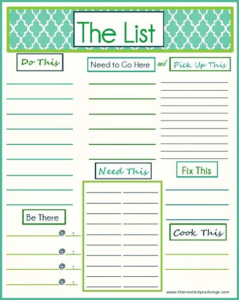 To Do List Template Printable Pinterest by Diy To Do List Template Free Printable Quot To Do Quot List