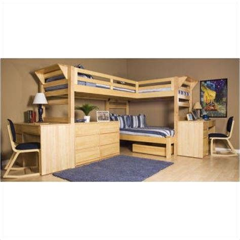3 person bunk bed 3 person loft bed a room for 3