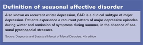 a without anorexia s a d seasonal affective disorder