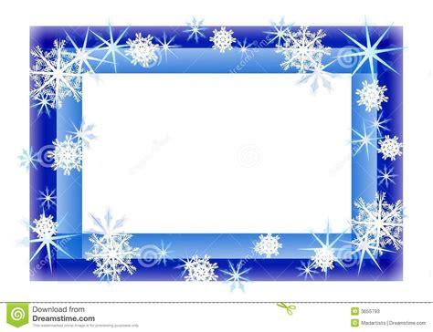 cadre de p 233 tillement bleu de flocon de neige photos stock image 3655793